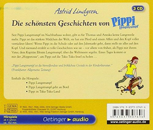 Die schönsten Geschichten von Pippi Langstrumpf (3CD): Hörspiele, ca. 154 min.: Alle Infos bei Amazon