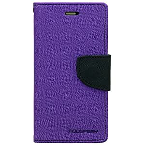 Micromax Canvas Unite 3 Q372 Mercury Flip Wallet Diary Card Case Cover (Purple) By Rainbow