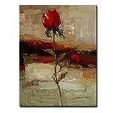 Rincr Rose Blume Ölgemälde abstrakte Leinwand drucken abstrakte rote Farbe Blumen Plakate und Drucke Cuacdros für Wohnzimmer Wand