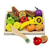 Fruits et Légumes Jouets Bois Magnetique Fruit a Decouper Enfant Jeu de Cuisine Legumes Fruits Jouet Cadeau pour Enfant 3 4 5 6 7 Ans, 22 Pièces