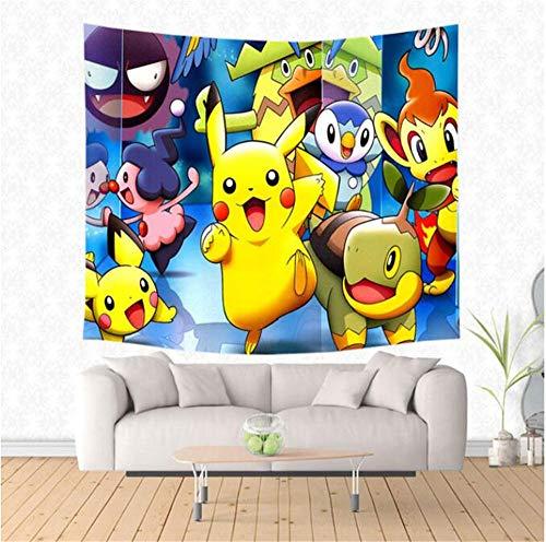 Wandteppiche Pokemon Go Wandbehang Tapisserie Yoga Teppich Mode Tagesdecke Picknick Matte Tischdecke Personalisierte Strandtuch C,150 × 200 cm