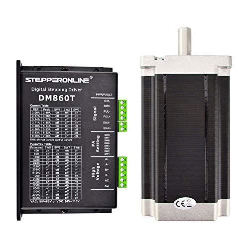 STEPPERONLINE 1 asse motore passo CNC Kit 13.0Nm (1841oz.in) Nema 34 motore passo passo & driver motore passo passo per 3D DRUCKER/CNC fresa DE SHIP