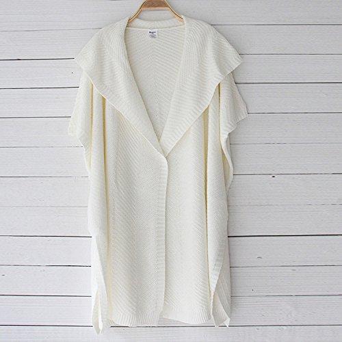 WTUS Ultra Femme Gilet Basique en Coton Nouveau 2017 Blanc