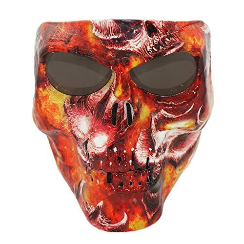 Vhccirt Persönlichkeit Schutzmaske Schädel / Zombie / Reaper Gesicht Airsoft / Paintball / Motorrad Flammen der Hölle