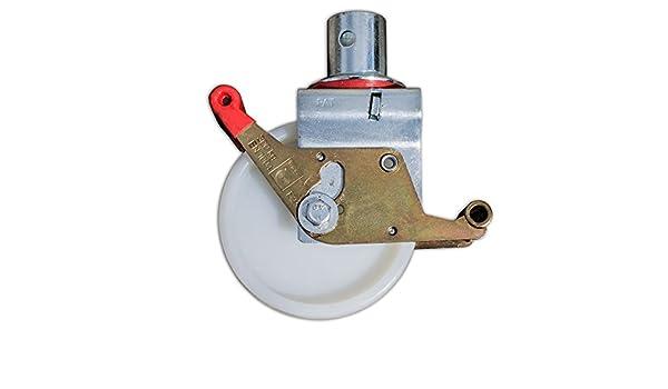 1 St/ück Aluklik ALTEC 150mm Rolle mit Doppelbremshebel f/ür Rollfix