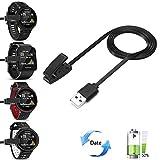Pushingbest Bases de carga USB cable cargador para Garmin Forerunner 735 XT Forerunner 35 Approach S20 Forerunner 235 Smart Watch (Black)