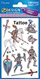 Avery Zweckform 56739 Kinder Tattoos Ritter 9 Aufkleber