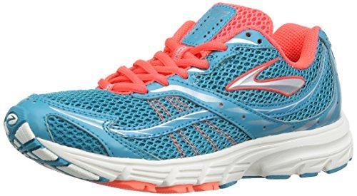 Brooks Launch Women Damen Laufschuhe Caribbean Sea/Fiery Coral/Silver