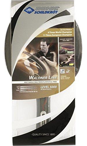 Donic-Schildkröt Tischtennis Schläger Waldner 5000 Carbon mit ABP Technologie und Ergo Griff, Holz/Natur, One Size, 751805