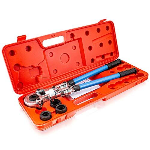 BITUXX® Rohrpresszange Presszange Handpresszange 60kN für Alu Verbundrohr V-Kontur bis 16-20-26-32mm