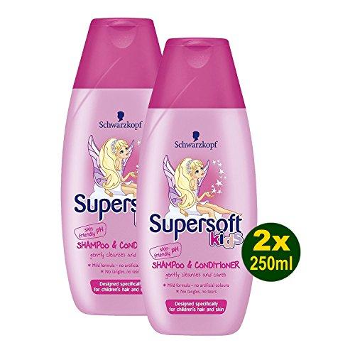 3x Schwarzkopf Supersoft Kids Girls Shampoo and Conditioner 250ml