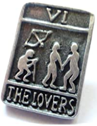The Lovers Card Tarot Trionfi Pin Badge in Fine English Pewter