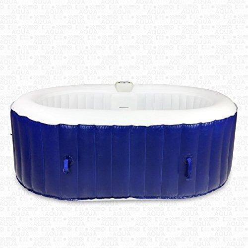 AQUAPARX Whirlpool AP-550SPA *oval 190x120cm* Pool 2Personen Wellness Spa Whirlpoolzubehör Badewanne 2P Wanne Indoor Outdoor Heizung aufblasbar - 2