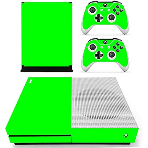 DOTBUY Vinile modello skin sticker decalcomanie della pelle per Xbox One S Console & Wireless Controller (All Green)