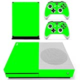 DOTBUY Vinyl Decal Full Body Skin Sticker For Microsoft Xbox One S Console And 2 Controllers And Kinect 2.0 (All Green)