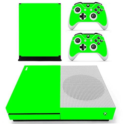 DOTBUY Dottbuy Vinyl-Aufkleber für Xbox One S Konsole & Wireless Controller All Green
