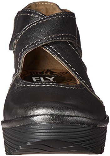Fly London Rafe657Fly Wedge Graphite Womens Shoes Blau