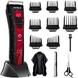 Haarschneidemaschine Profi Haarschneider Herren Haartrimmer mit 36 Längeneinstellungen IPX6 Wasserdicht Akku- und Netzbetrieb Männer von ELEHOT