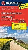 Ostseeküstenradweg 1, Von Flensburg nach Lübeck: Fahrrad-Tourenkarte. GPS-genau. 1:50000. (KOMPASS-Fahrrad-Tourenkarten, Band 7052) -
