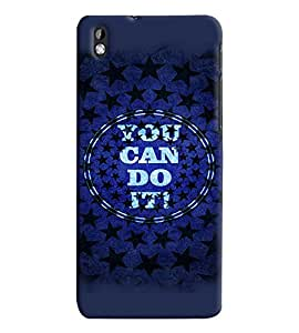 Fuson Premium You Can Do It Printed Hard Plastic Back Case Cover for HTC Desire 820