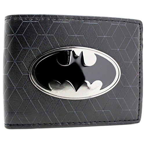 DC Comics Batman Bat Symbol Badge Nero portafoglio