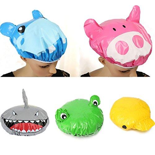 Preisvergleich Produktbild Bazaar Wasserdicht Baden Hut Duschhaube von Tieren Displayschutzfolie der Abdeckung des Haar-Cartoon PVC