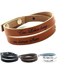 Lederarmband mit gravur für männer braun  Suchergebnis auf Amazon.de für: männer armband mit gravur: Schmuck