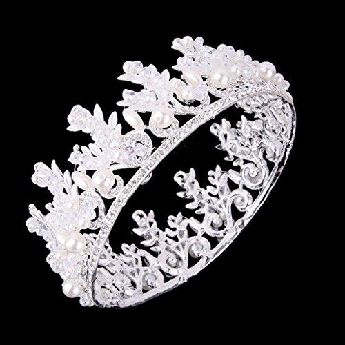 Boda Tiara Cristalina Nupcial / Diamantes De Imitación Diadema Corona De Plata Concurso De Baile