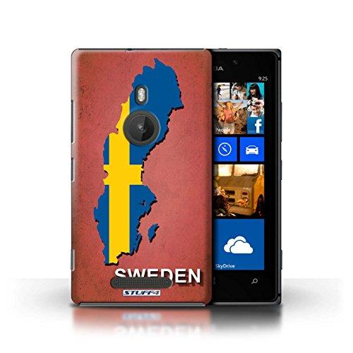 Coque de Stuff4 / Coque pour Nokia Lumia 925 / Ecosse/écossaise Design / Drapeau Pays Collection Suède/Suédois