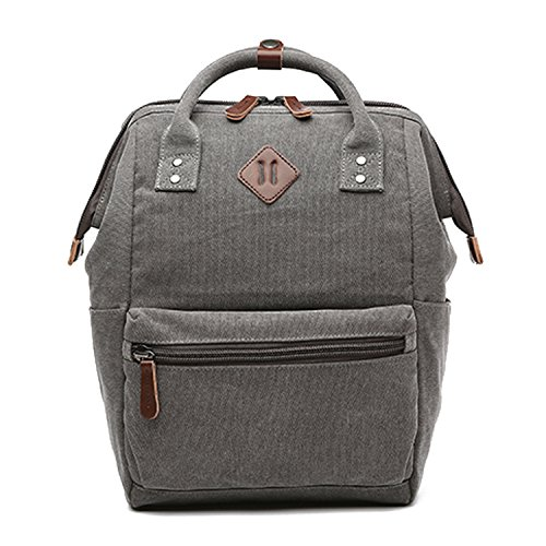 Outreo Zaino Vintage Borsa Uomo Borsello Laptop Backpack per Scuola  università Studenti Sacchetto Sport Bag Outdoor ... 12a522562c8