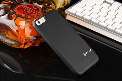 Preisvergleich Produktbild iCayz Schutzhülle Alu-Magic EasyDocking iPhone 6: black,  inkl. 9H Glass Protector