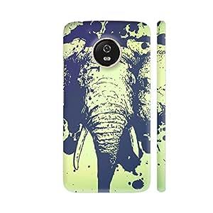 Colorpur Moto G5 Cover - Splashing African Elephant Printed Back Case