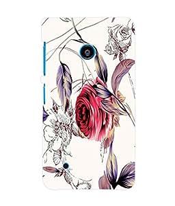 Fuson 3D Printed Flower Wallpaper Designer Back Case Cover for Nokia Lumia 530 - D875