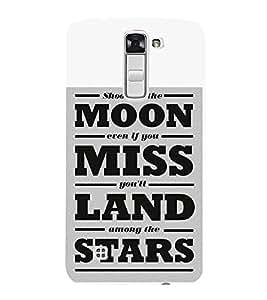 FUSON Moon Miss Land Stars 3D Hard Polycarbonate Designer Back Case Cover for LG K10 :: LG K10 Dual SIM :: LG K10 K420N K430DS K430DSF K430DSY