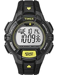 Timex  Ironman® Traditional 30-Lap Rugged - Reloj de cuarzo para hombre, con correa de goma, color negro