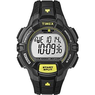 Timex T5K790 – Reloj (Reloj de Pulsera, Resina, Acero Inoxidable, Negro, Amarillo, Resina, Negro, Resina)