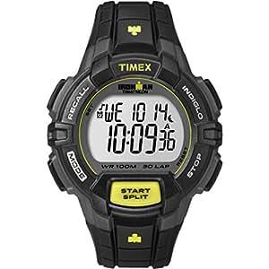 Timex - T5K790 - Ironman 30 Lap Rugged - Montre de Sport Homme - Quartz Digital - Cadran LCD - Bracelet Résine Noir