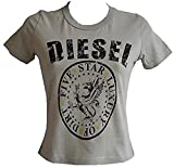 Diesel Bnwt Girls Designer T-Shirt Beige