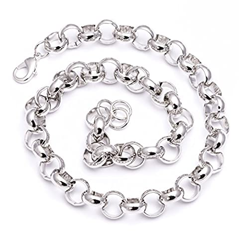 Men's Luxury Silver Plated 16mm 24