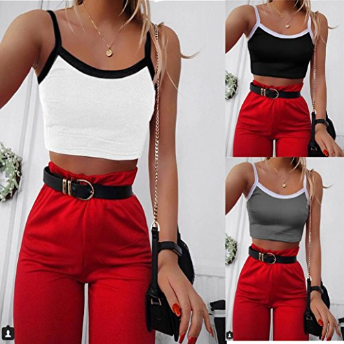 Ladies Summer Camisole Kanpola Womens Casual Tank Top Vest Blouse Sleeveless Crop Tops Simple Cami Shirt