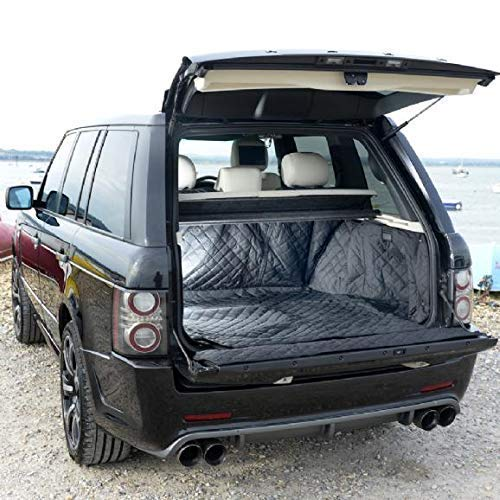UK Custom Covers QBL216B Maßgeschneidert Gesteppt Kofferraum Matte Schwarz Range Rover Vogue