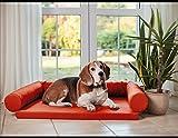 Artur Soja LUCKY Ortho Orthopädisches Hundebett Schlafplatz Hundekissen Größe: M-XXL (L/XL 120x90cm, orange (Nr.09))