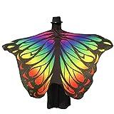 Zolimx Damen Weicher Gewebe Schmetterlings Flügel Schal, Nymphen Pixie Kostüm Zusatz (Mehrfarbig1)