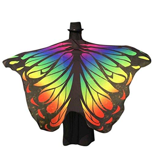 Damen Weicher Gewebe Schmetterlings Flügel Schal, Zolimx Nymphen Pixie Kostüm Zusatz (Mehrfarbig1)