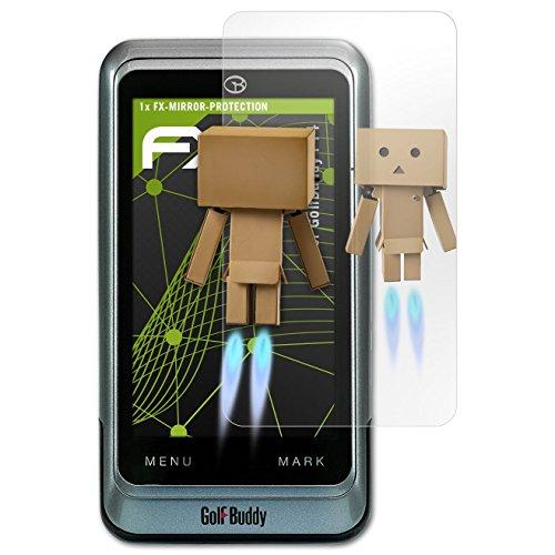 atFoliX Displayschutz für GolfBuddy PT4 Spiegelfolie - FX-Mirror Folie mit Spiegeleffekt