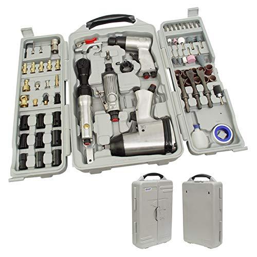 ✅ Druckluftgeräte Set 71 tlg. Schlagschrauber Ratsche Meißelhammer Geräteset Gerätesatz