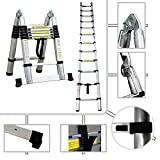 Todeco - Échelle Multifonction, Escabeau - Standards/Certifications: EN131 - Charge maximale: 150 kg - 3,8 mètre(s), Barre stabilisatrice, EN 131