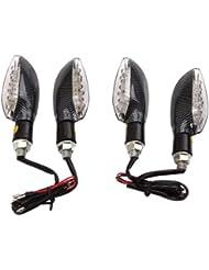 Rupse - 4 x Clignotants Moto 15 LED éclairage Feux Ample Indicateur Lumière pour Motocycle