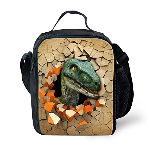Showudesigns Cool stampato Animal Dinosaur lunch Bags Keep Warm picnic Bags, Poliestere, color 5, small color 3
