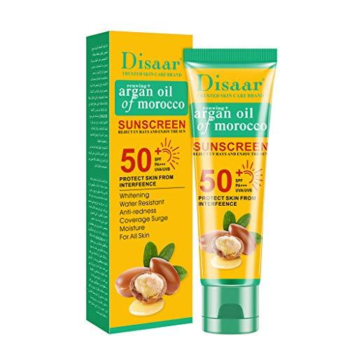 Der umweltfreundliche Sonnenschutz Allergy Sensitive Skin Sun Lotion LSF50 Feuchtigkeitsspendende für Allergiker Gegen Hautirritationen Wasserfeste Haut 50g (Marokkanischer Argan) -